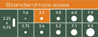 MetalImage Holesizes - Holes and Corners