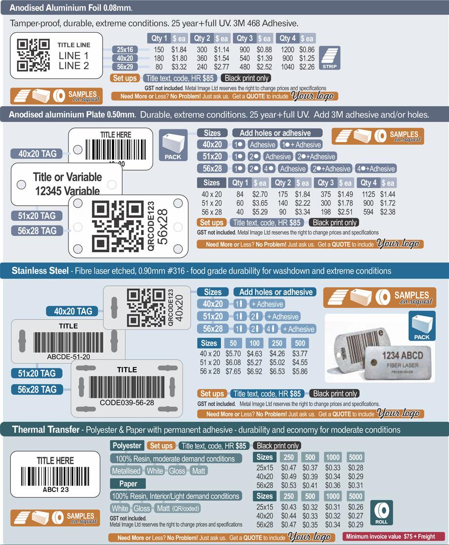 MetalImage AssetLabels PricingV10 - Asset Labelling