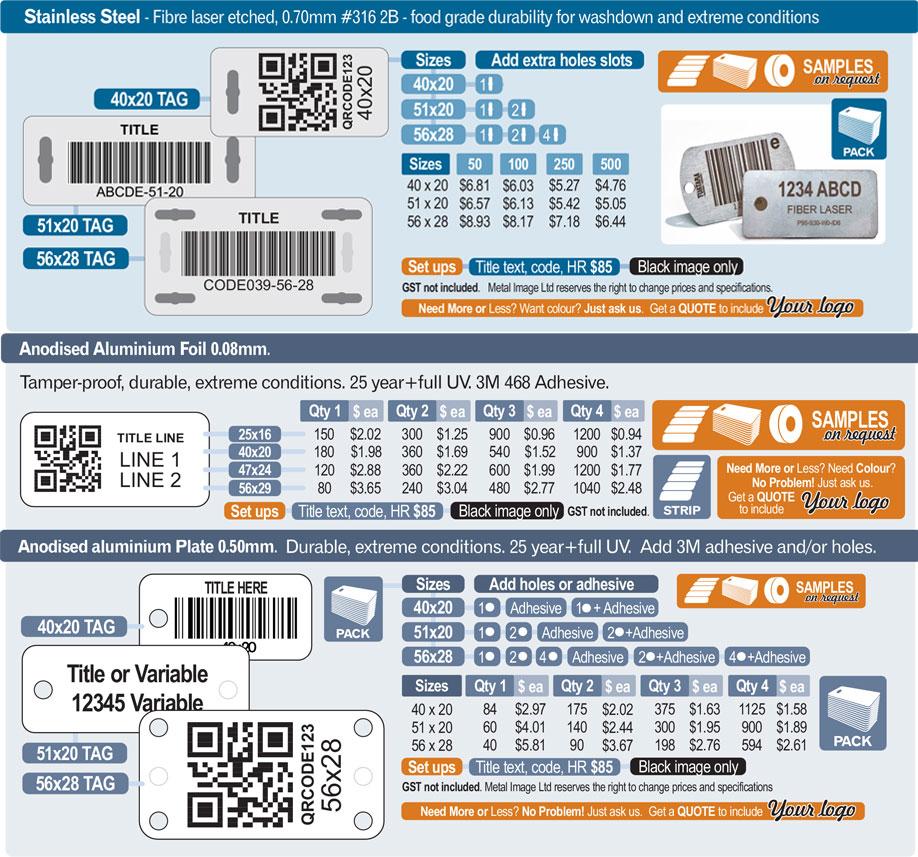 MetalImage AssetLabels PricingV13 - Asset Labels & Tags